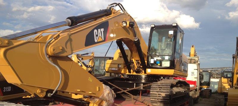 Перевозка экскаватора CAT 324D массой 32 тн из СПб в Ханты-Мансийский автономный округ