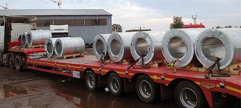 Перевозка корабельной партий рулонной стали общим весом 3000 т