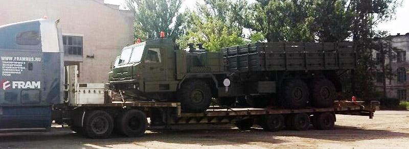 перевозка негабаритной военной техники фото